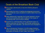 goals of the breakfast book club