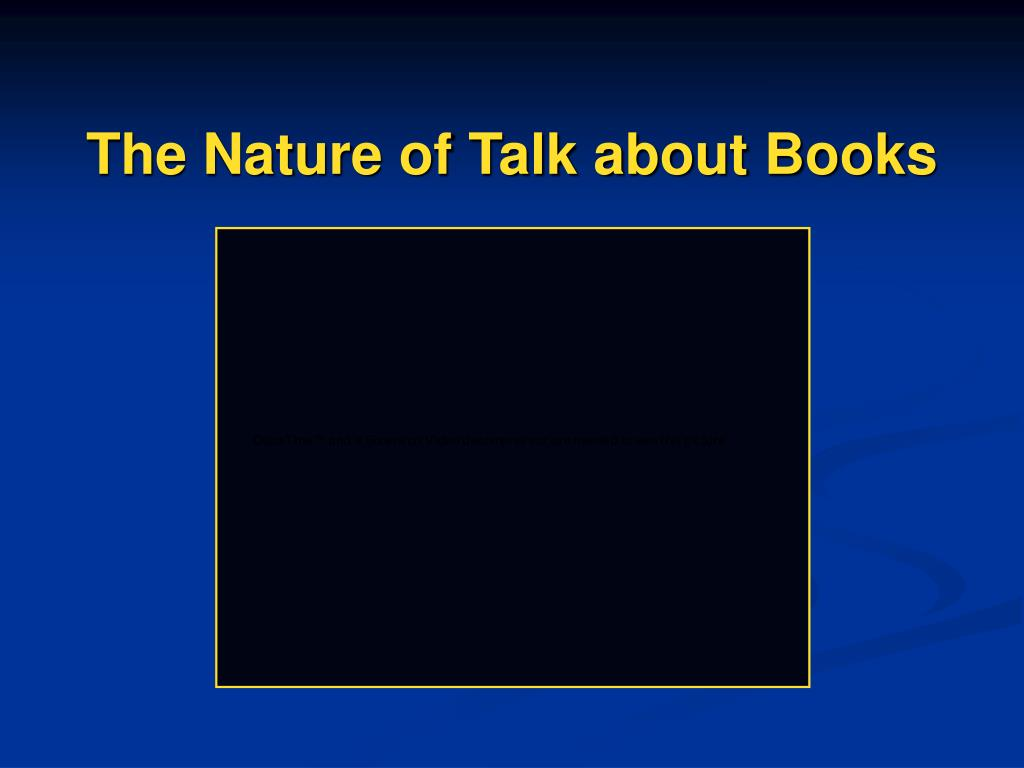 The Nature of Talk about Books