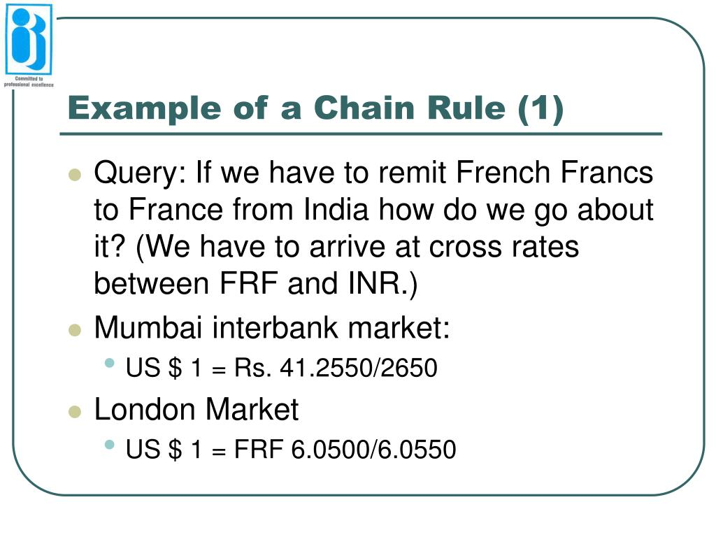 Example of a Chain Rule (1)