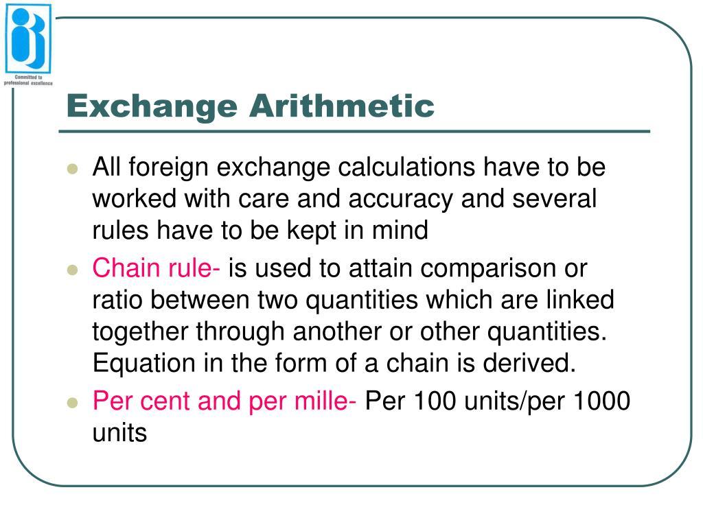 Exchange Arithmetic