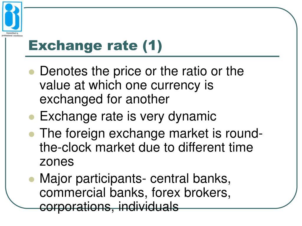 Exchange rate (1)