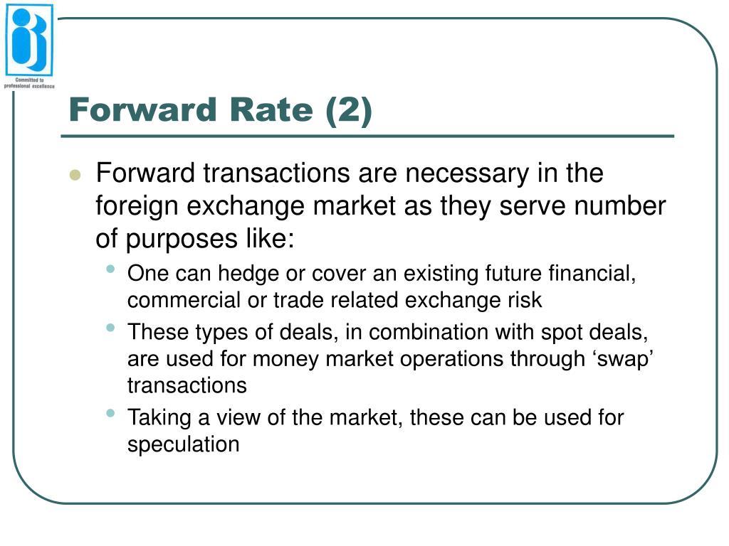 Forward Rate (2)