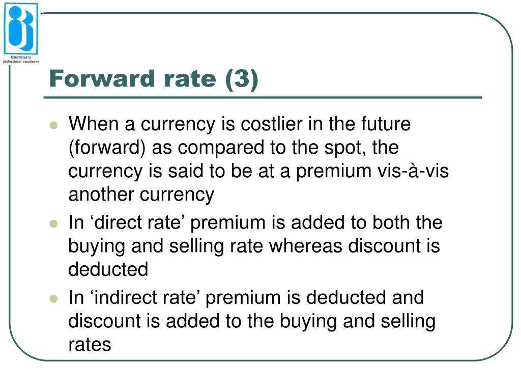 Forward rate (3)