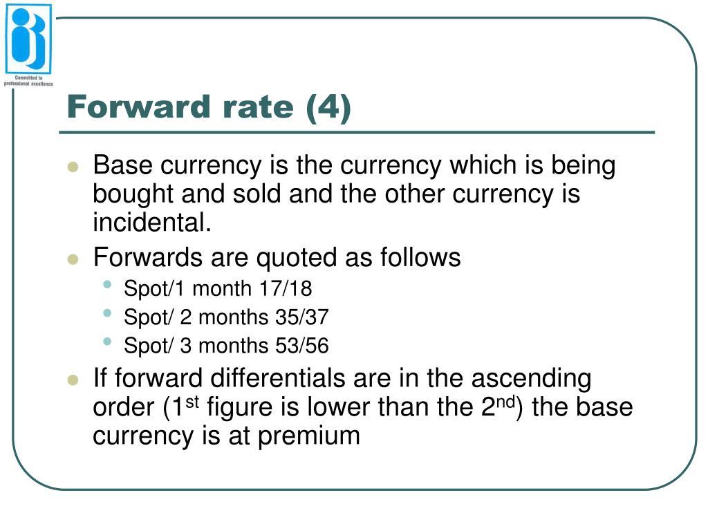 Forward rate (4)