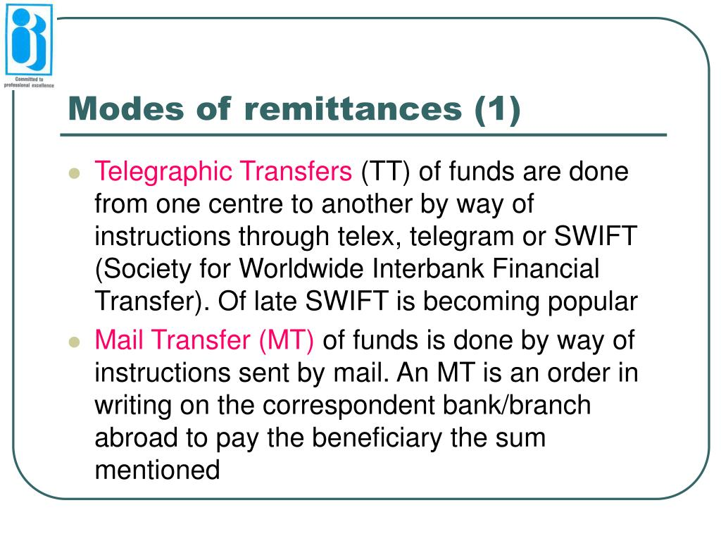 Modes of remittances (1)