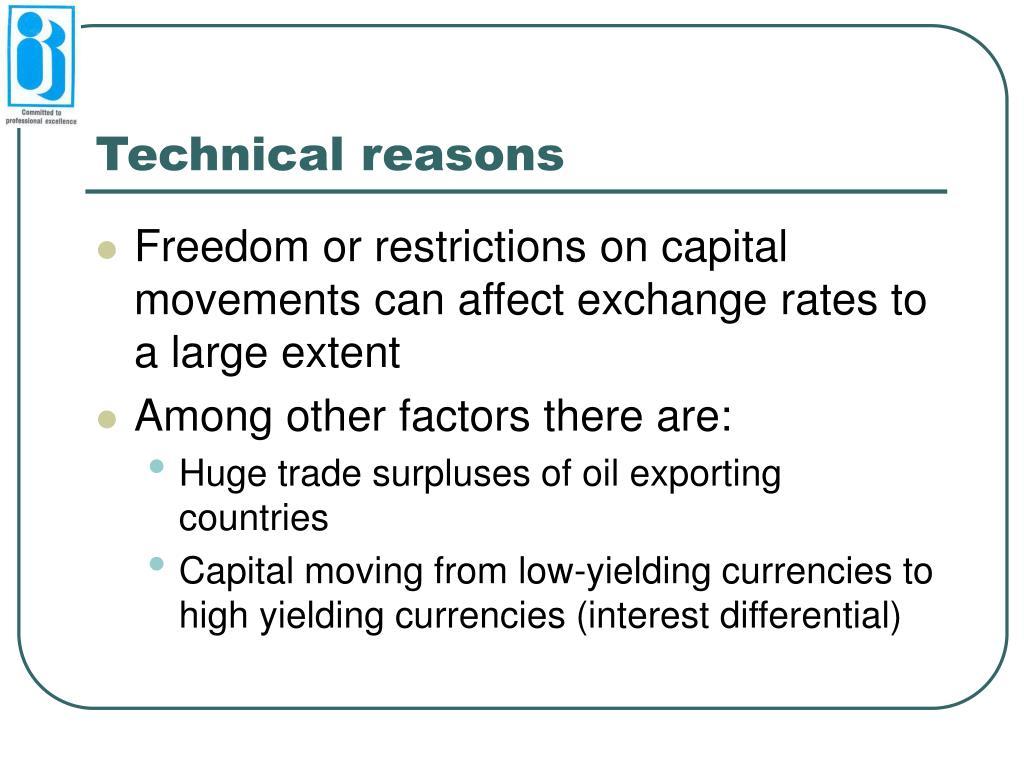 Technical reasons