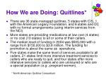 how we are doing quitlines