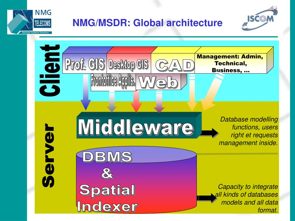 NMG/MSDR: Global architecture