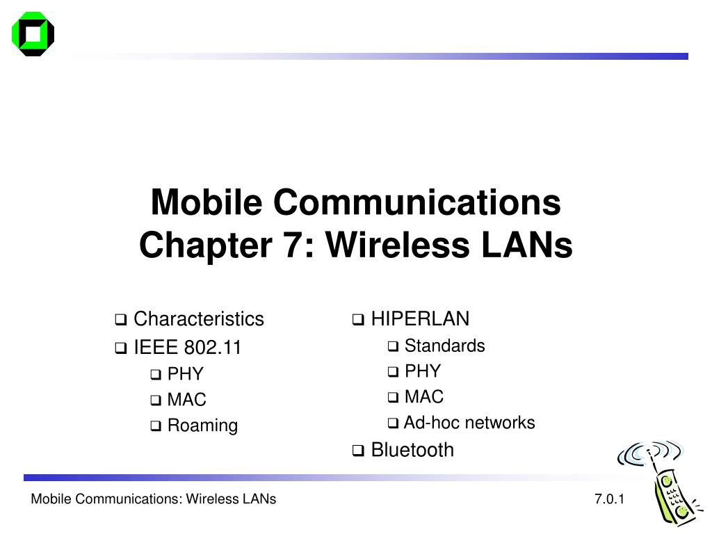 mobile communications chapter 7 wireless lans l.