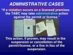 administrative cases