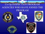 co op inspection program agencies who have joined the program