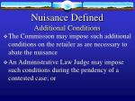 nuisance defined additional conditions