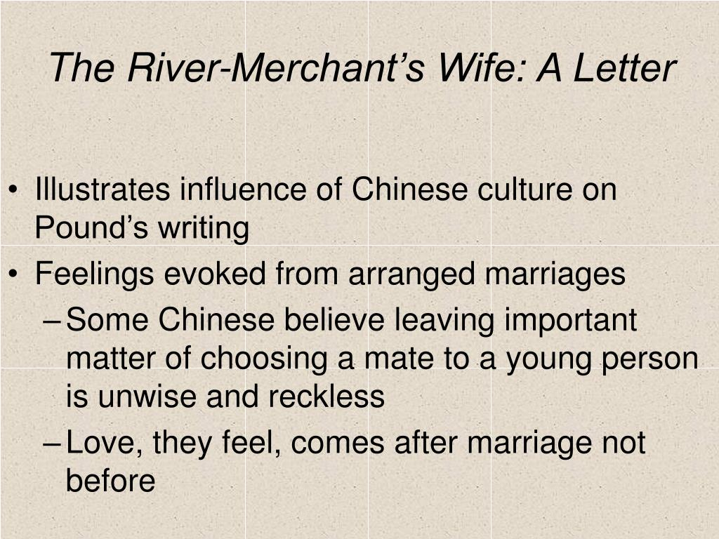 synthesis the river merchants wife and
