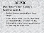 does music affect a child s behavior cont d