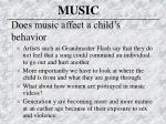 does music affect a child s behavior