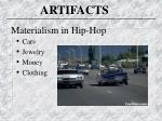 materialism in hip hop