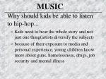 why should kids be able to listen to hip hop