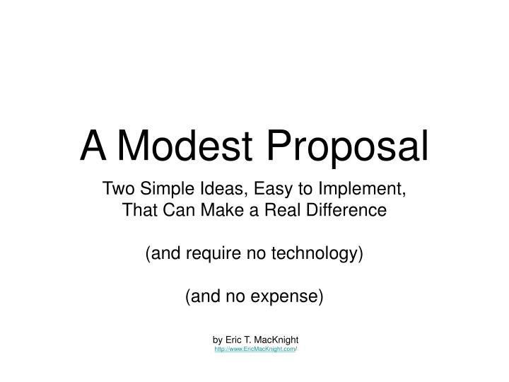 Ppt A Modest Proposal Powerpoint Presentation Id304446