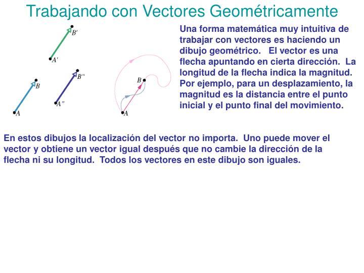 Trabajando con vectores geom tricamente