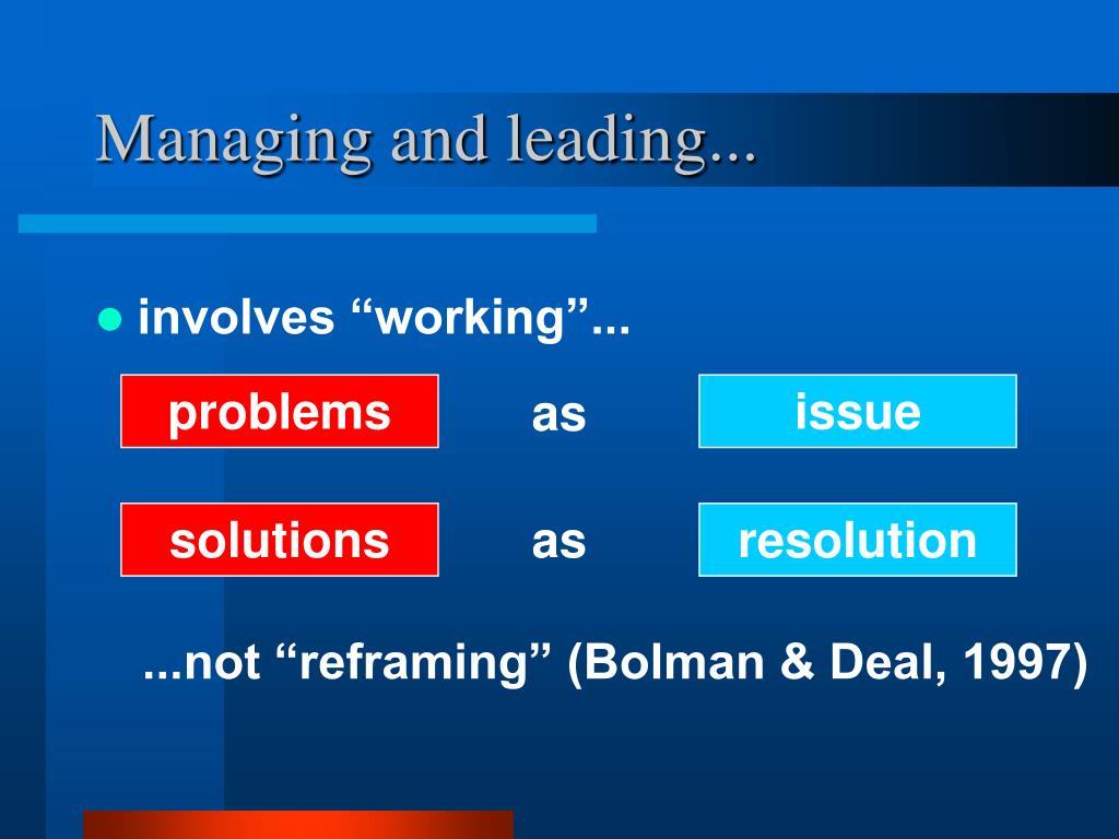 reframing bolman and deal