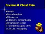 cocaine chest pain