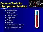 cocaine toxicity sympathomimetic