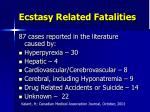 ecstasy related fatalities