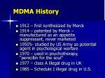 mdma history