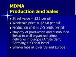 mdma production and sales