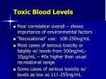 toxic blood levels