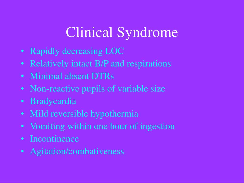 Clinical Syndrome