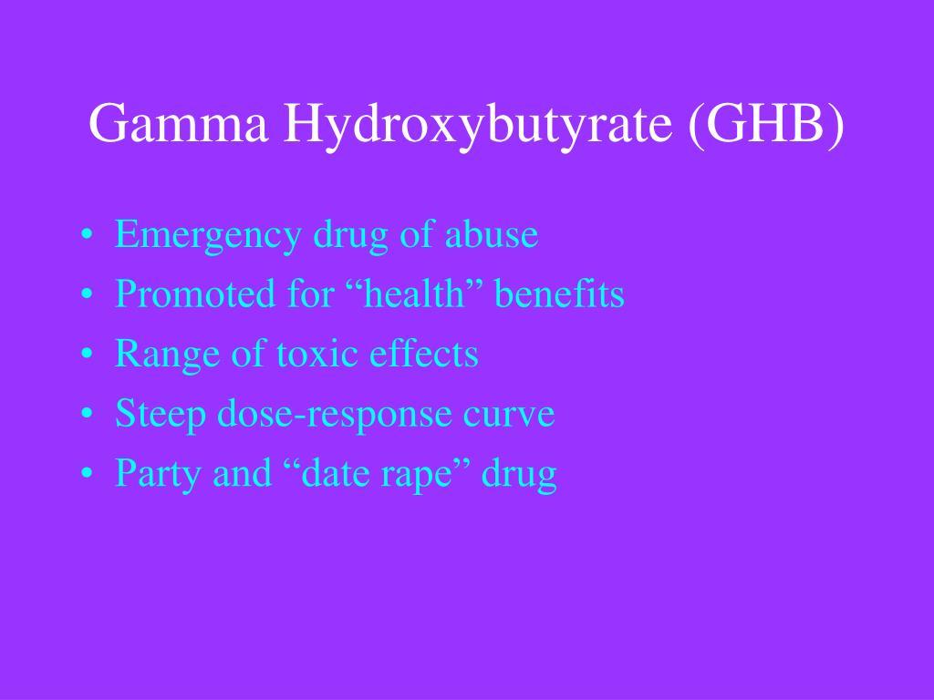 Gamma Hydroxybutyrate (GHB)