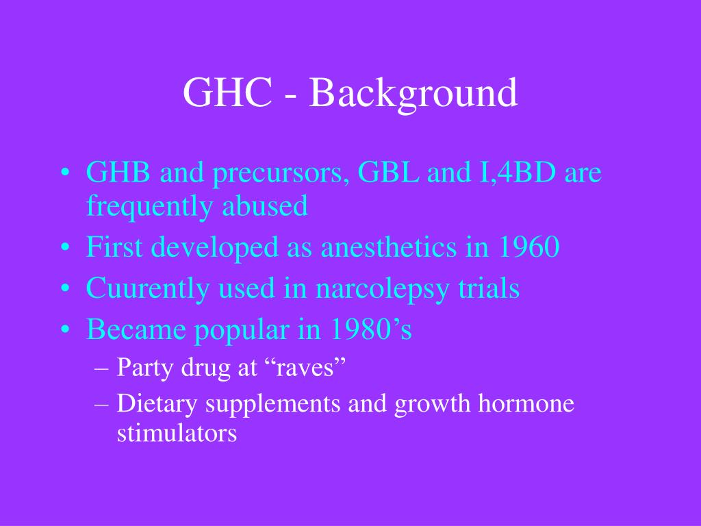 GHC - Background