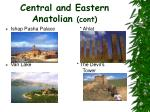 central and eastern anatolian cont