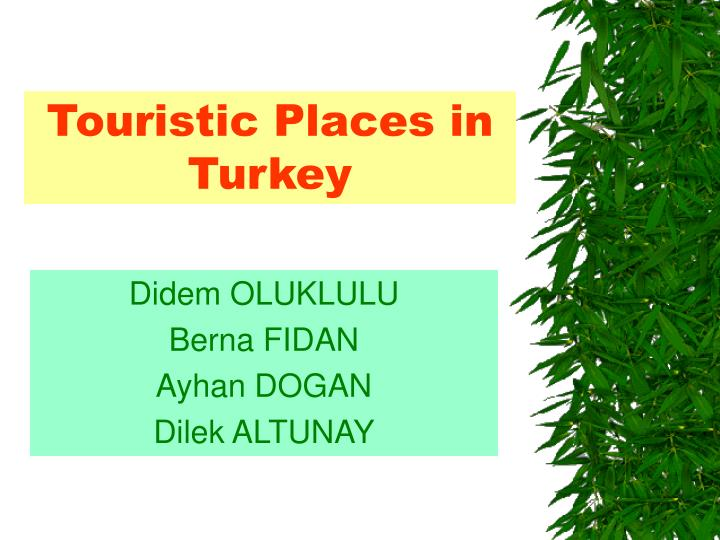 touristic places in turkey n.