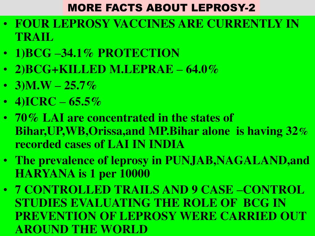 MORE FACTS ABOUT LEPROSY-2