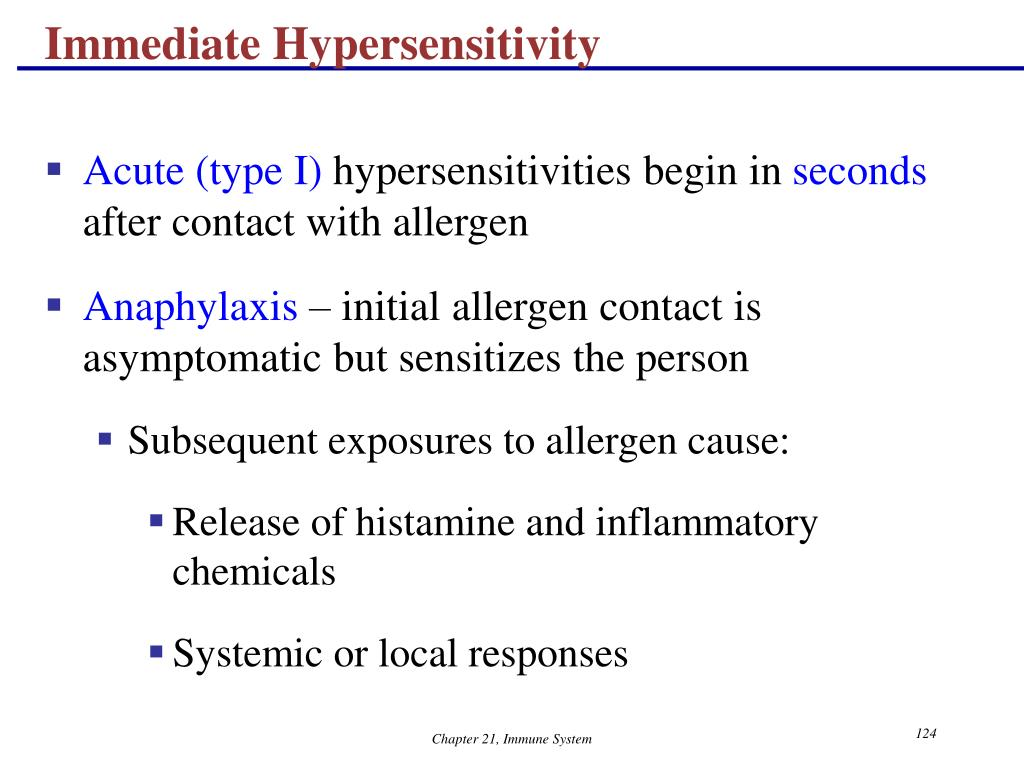 Immediate Hypersensitivity