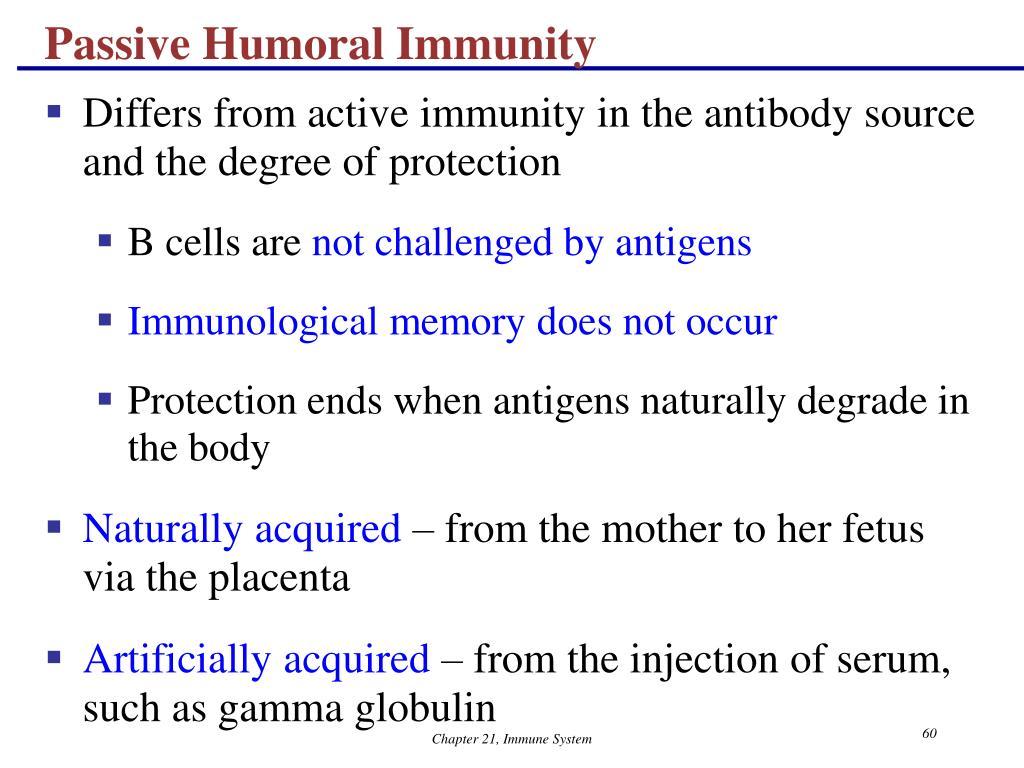 Passive Humoral Immunity