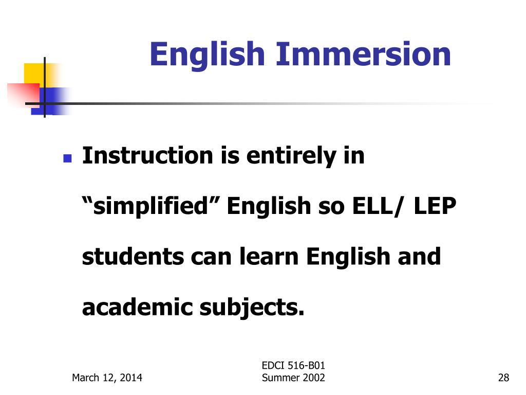 English Immersion