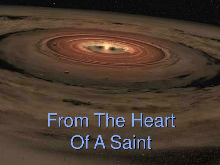 from the heart of a saint n.