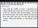 god s commandment 1 samuel 15 2 3