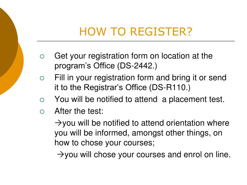 HOW TO REGISTER?