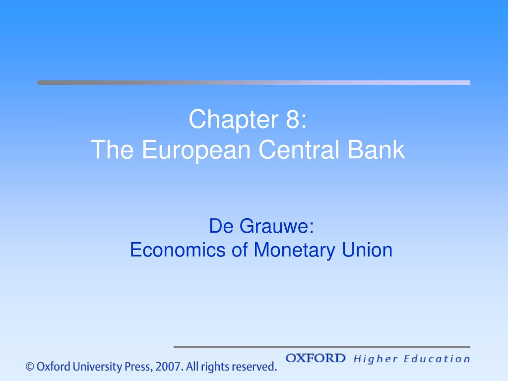 chapter 8 the european central bank l.