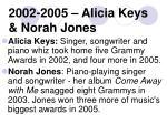 2002 2005 alicia keys norah jones