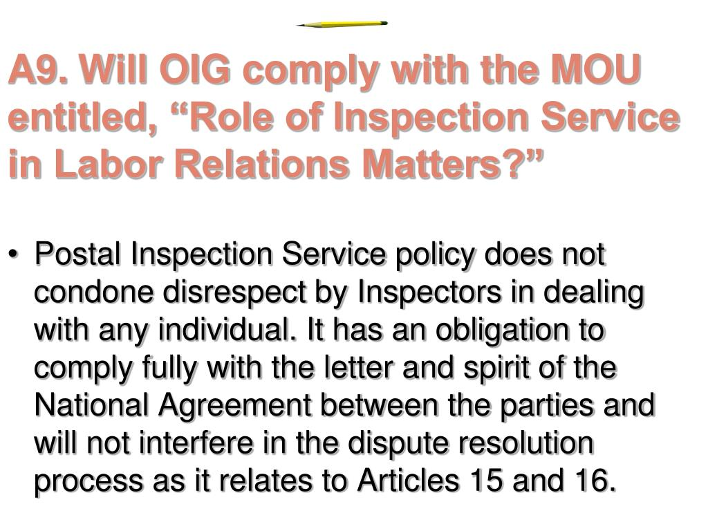 PPT - INTERROGATION BY THE OFFICE OF INSPECTOR GENERAL OR
