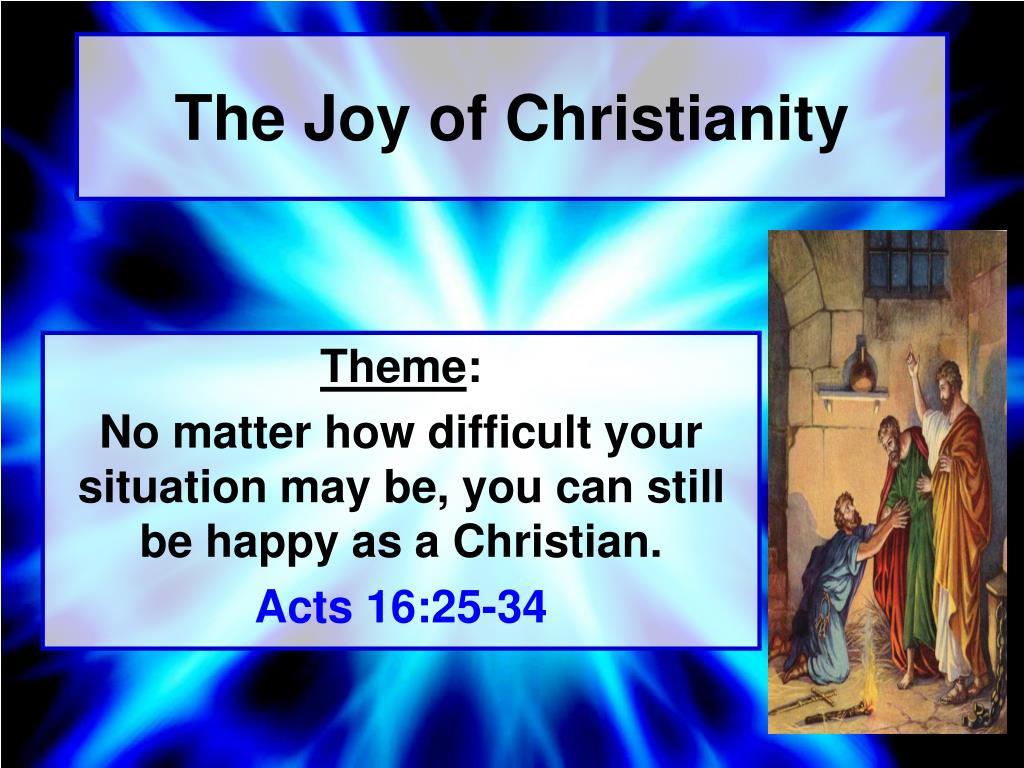 the joy of christianity