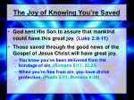 the joy of knowing you re saved
