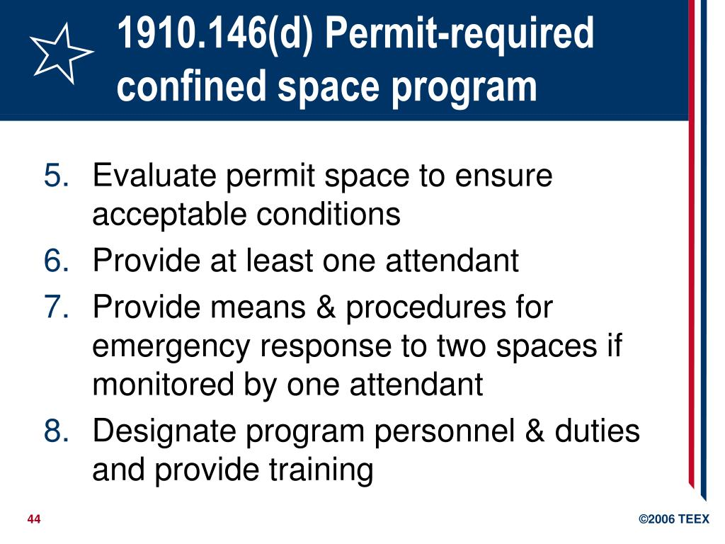 1910.146(d) Permit-required confined space program