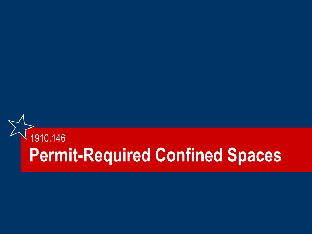 Permit-Required Confined Spaces