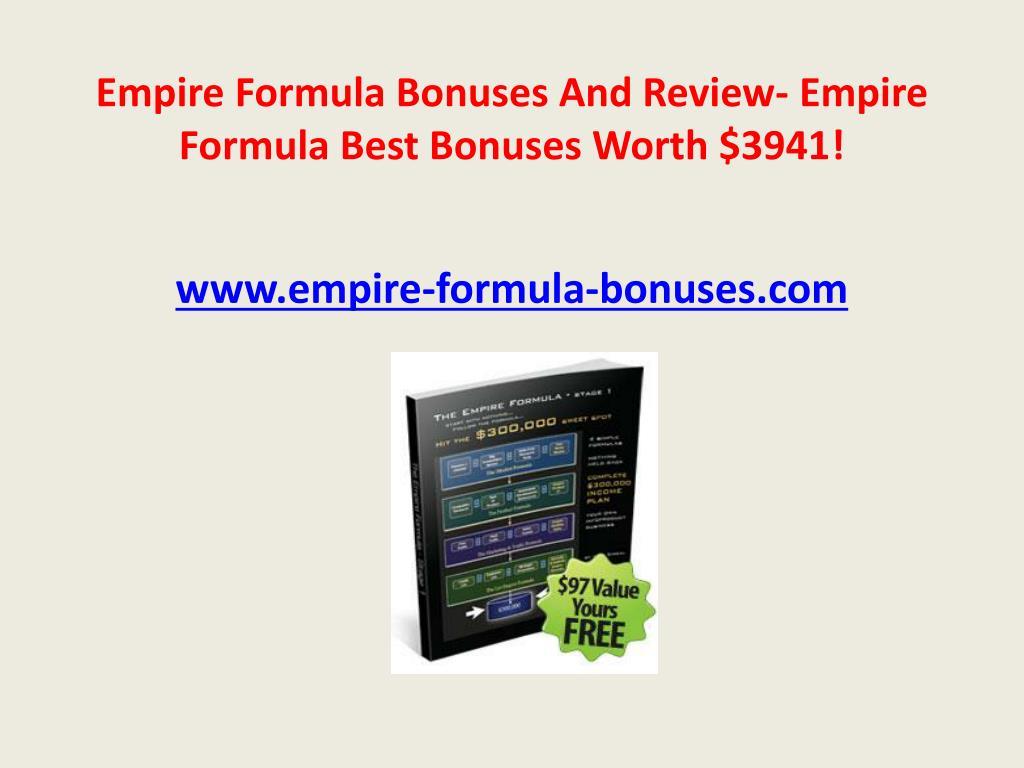 empire formula bonuses and review empire formula best bonuses worth 3941 l.